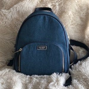 kate Spade 'Dawn' denim backpack NEW!
